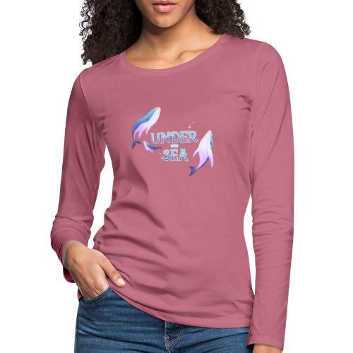 Under the Sea - Les Baleines - Women's Premium Longsleeve Shirt