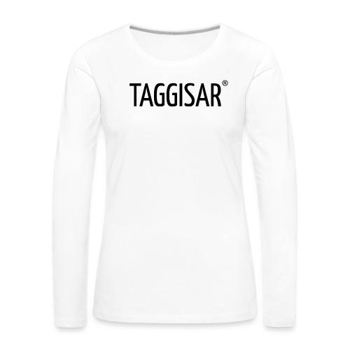 Taggisar Logo Black - Långärmad premium-T-shirt dam