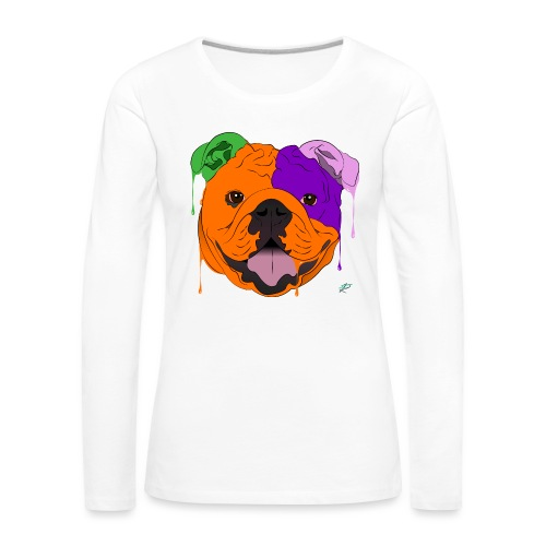 Bulldog - Maglietta Premium a manica lunga da donna