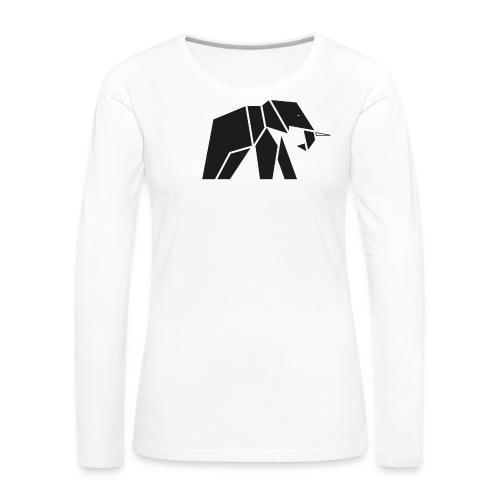 Schönes Elefanten Design für Elefanten Fans - Frauen Premium Langarmshirt