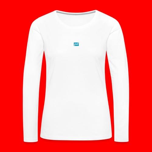 pd Blue - Dame premium T-shirt med lange ærmer