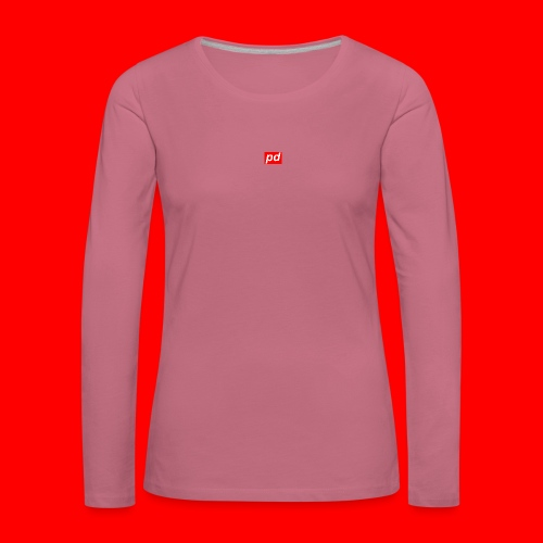 pd Red - Dame premium T-shirt med lange ærmer