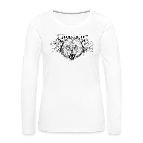 wolves-rule - Women's Premium Longsleeve Shirt