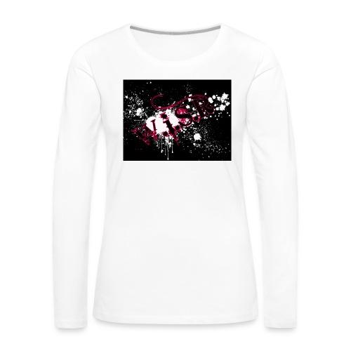 wisr puna musta splash t-paita - Naisten premium pitkähihainen t-paita