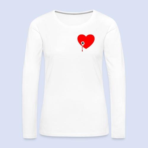 Cœur troué - T-shirt manches longues Premium Femme