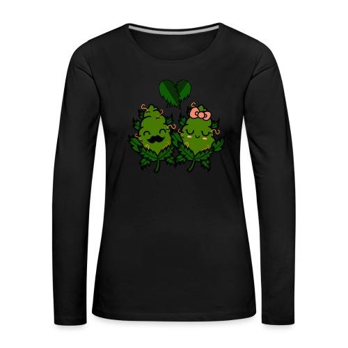 Mr & Ms Weed Nug - Camiseta de manga larga premium mujer