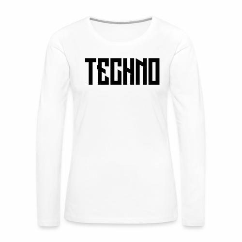 Techno_V5 - Frauen Premium Langarmshirt