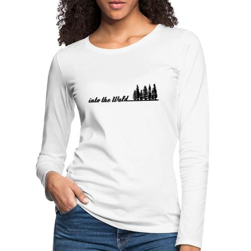 into the wald - Frauen Premium Langarmshirt
