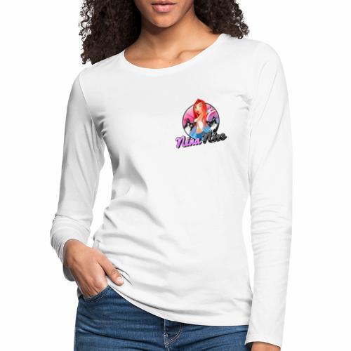 Nina Nice Logo - Frauen Premium Langarmshirt