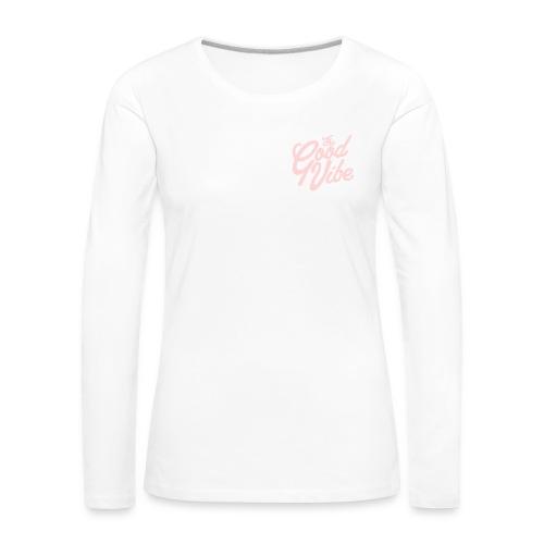 TheGoodVIbe pink logo edition - Maglietta Premium a manica lunga da donna