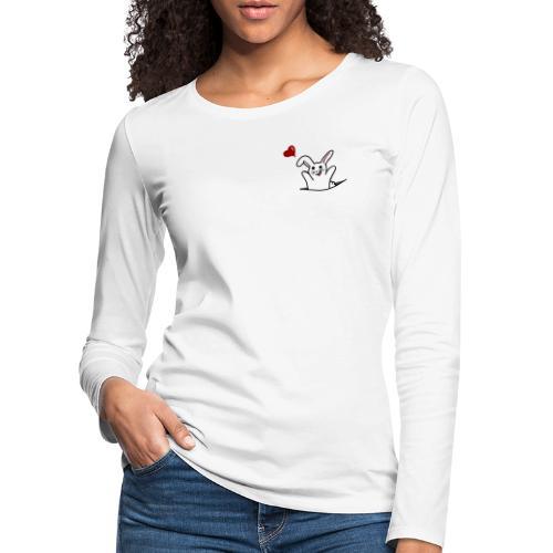 Hase mit Herz - Frauen Premium Langarmshirt