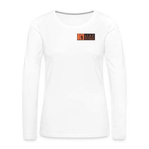 logo giap orange jpg - Maglietta Premium a manica lunga da donna