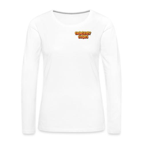 Hockeymom png - Långärmad premium-T-shirt dam