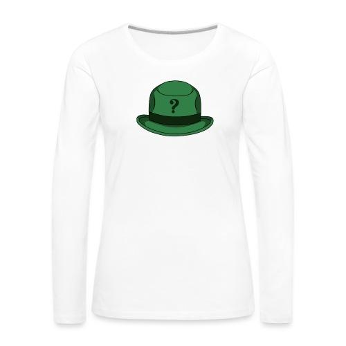 Grüner Rätsel Hut Riddler - Frauen Premium Langarmshirt