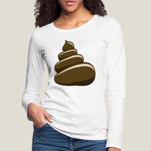 Bajskorv, Turd, Crap, Poop, Shit, Shite - Långärmad premium-T-shirt dam