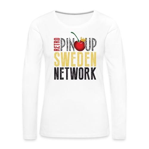 Tanktop Retro Pinup Sweden Crew utsvängd - Långärmad premium-T-shirt dam