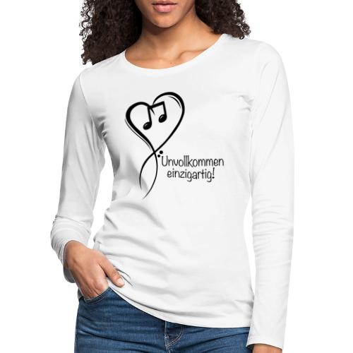 Unvollkommen einzigartig black - Frauen Premium Langarmshirt