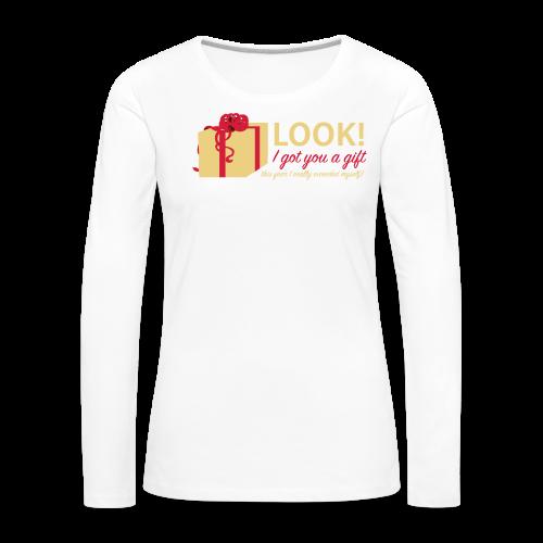 Täydellinen lahja - Naisten premium pitkähihainen t-paita