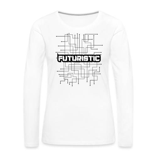 Futuristic - Vrouwen Premium shirt met lange mouwen