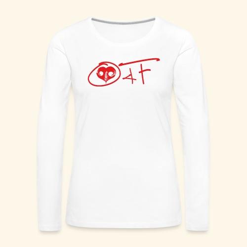 O4F ROSSO - Maglietta Premium a manica lunga da donna