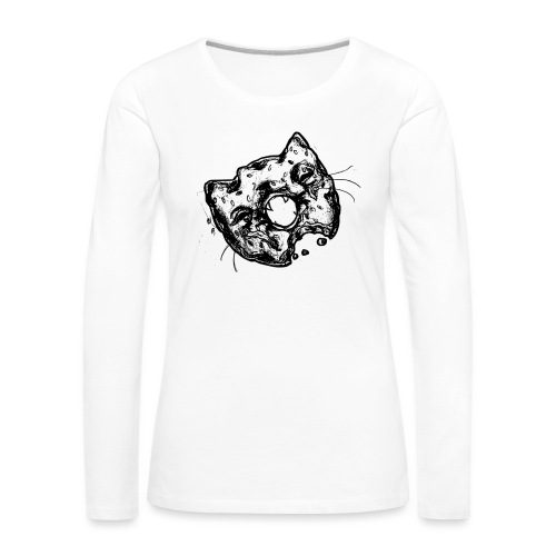 Dona Gato Negro - Camiseta de manga larga premium mujer