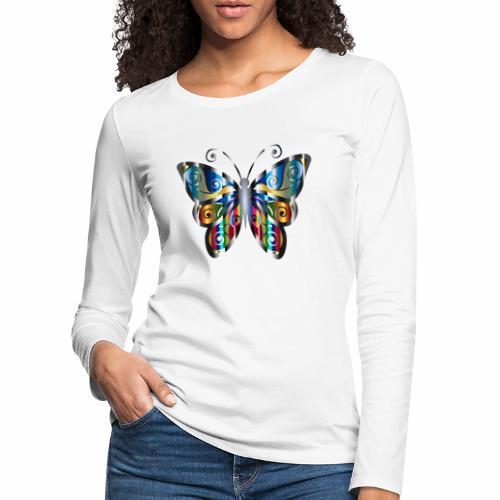 butterfly - Koszulka damska Premium z długim rękawem