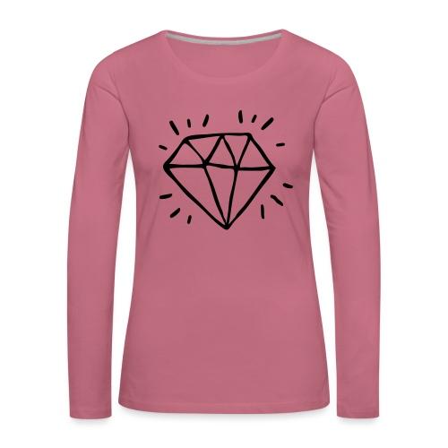 diamant - T-shirt manches longues Premium Femme