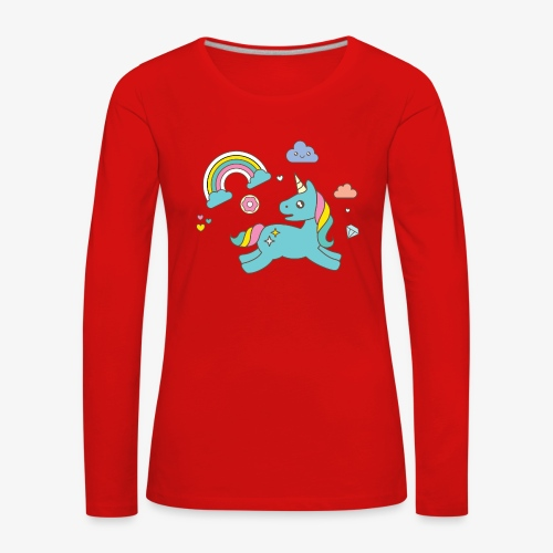 colored unicorn - Women's Premium Longsleeve Shirt