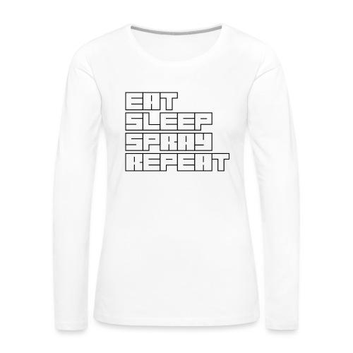 EATSLEEPSPRAYREPEAT - Women's Premium Longsleeve Shirt
