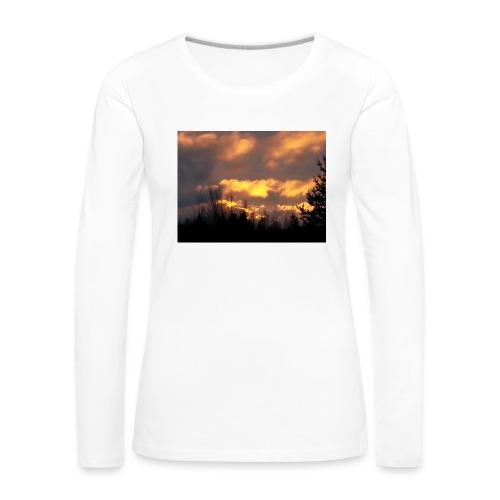 Iltarusko - Naisten premium pitkähihainen t-paita