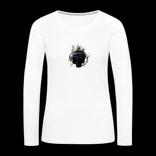 Tête de mort île - T-shirt manches longues Premium Femme