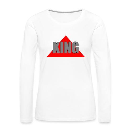 King, by SBDesigns - T-shirt manches longues Premium Femme