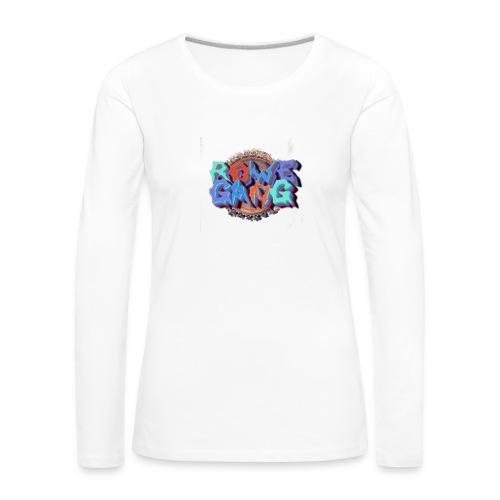 RoweGang Basic Logo - Naisten premium pitkähihainen t-paita