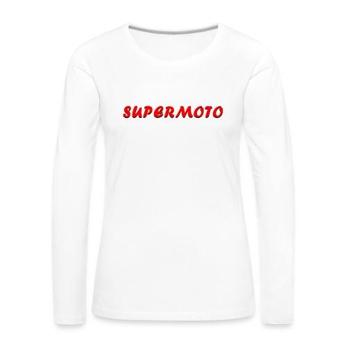 SupermotoLuvan - Långärmad premium-T-shirt dam