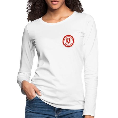 Logo in Rot Weiß - Frauen Premium Langarmshirt
