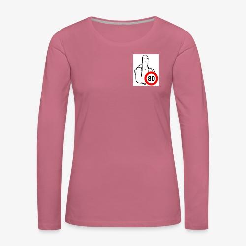 Doigt Coeur - T-shirt manches longues Premium Femme