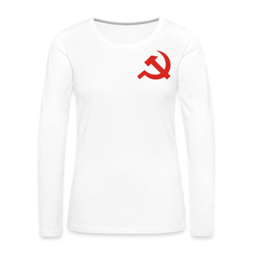 red Hammer and Sickle - T-shirt manches longues Premium Femme