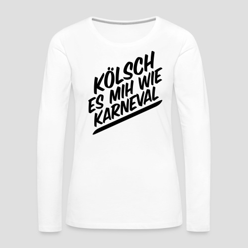 daeHoot Karneval - Frauen Premium Langarmshirt
