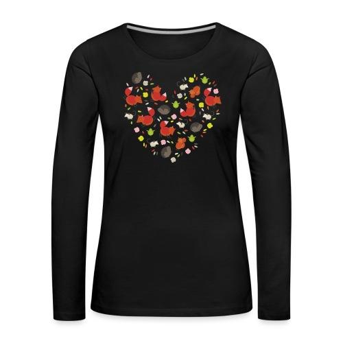 Metikössä - Naisten premium pitkähihainen t-paita