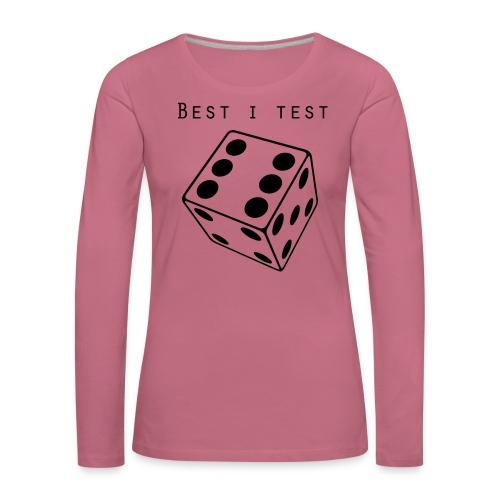 Best i test - Premium langermet T-skjorte for kvinner