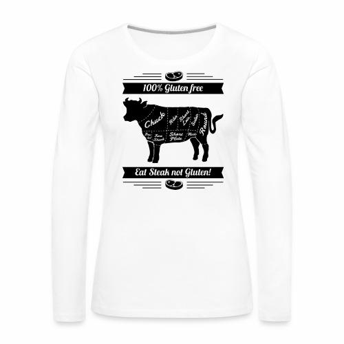 Humorvolles Design für Fleischliebhaber - Frauen Premium Langarmshirt