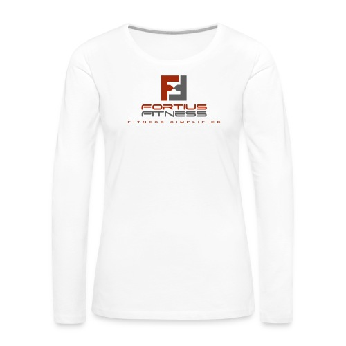 Fortius Fitness - Dame premium T-shirt med lange ærmer