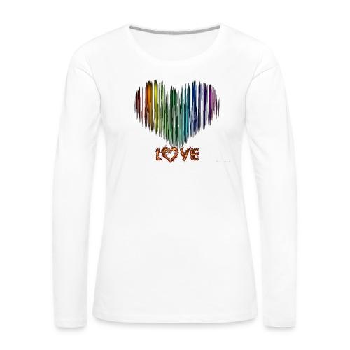 wzorek_10 - Koszulka damska Premium z długim rękawem