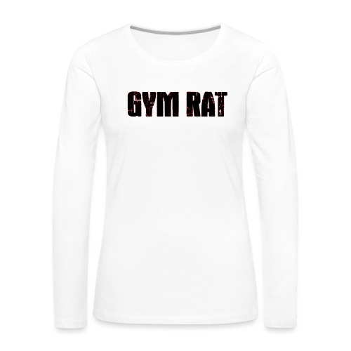 Gymrat - Långärmad premium-T-shirt dam