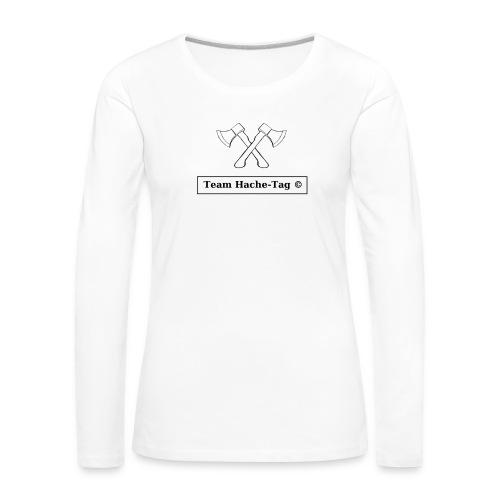Logo Team Hache-Tag - T-shirt manches longues Premium Femme