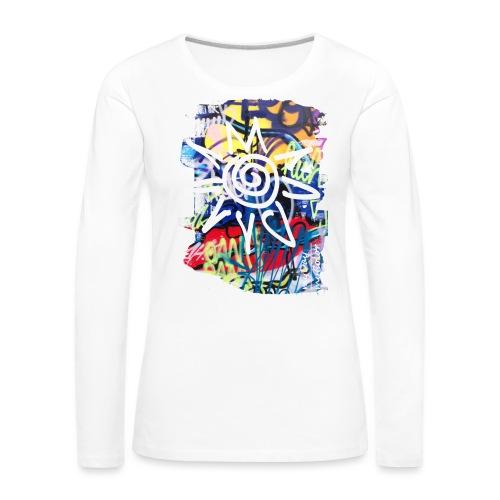 CityColors / Graffiti Sonne - Frauen Premium Langarmshirt