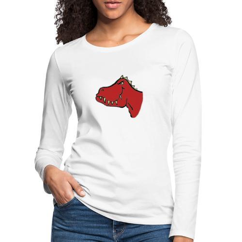 T Rex, Red Dragon - Women's Premium Longsleeve Shirt