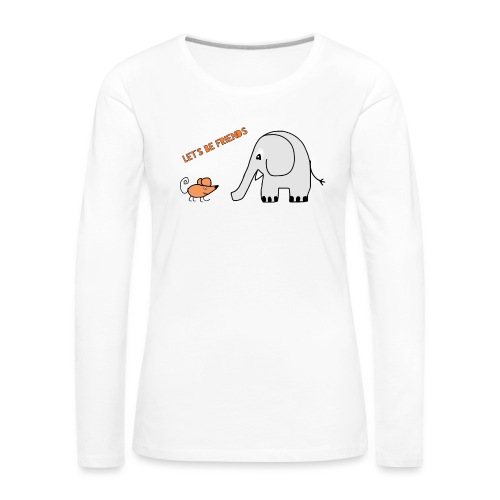 Elephant and mouse, friends - Women's Premium Longsleeve Shirt