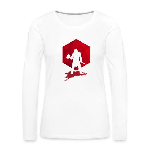 Brutal Barbarian - Dungeons and Dragons dnd d20 - Naisten premium pitkähihainen t-paita