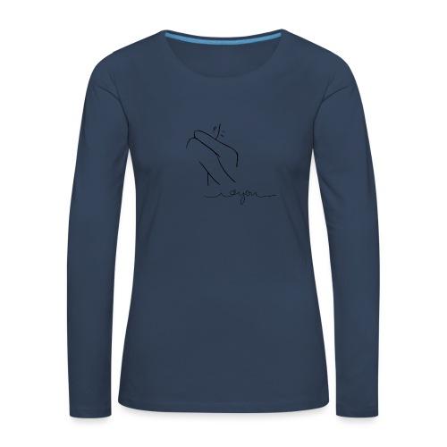 Regalo San Valentino Coppia   Sagome Abbracciate - Maglietta Premium a manica lunga da donna